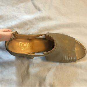 Franco Sarto Taupe Leather Sandals